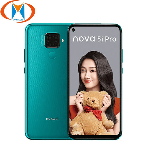 "New Original Huawei nova 5i Pro 8GB 128GB Mobile Phone 6.26"" 48MP Quad Camera 4000mAh Dual SIM Fingerprint Octa core 4G Phone"