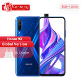 In Stock Global Version Honor 9X 4GB 128GB 48MP Triples Camera Smartphone 6.59'' Screen Mobile Phone Android 9 Google Play OTA