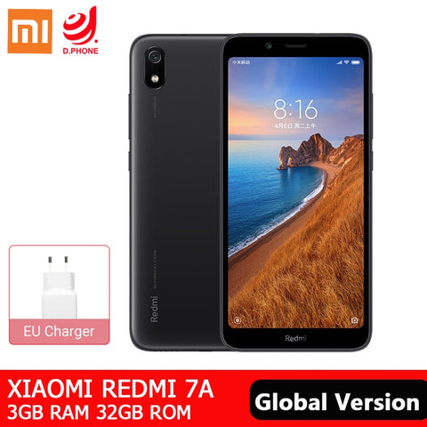 "Global ROM Xiaomi Redmi 7A 3GB 32GB Smartphone Snapdragon 439 Octa Core 5.45"" HD 4000mAh Battery 12MP Rear Camera Mobile Phone"