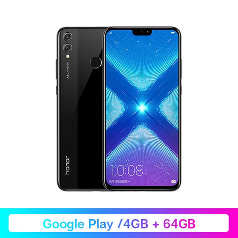 Google Play Honor 8X 8 X Smartphone Global Rom 4GRAM 64G/128G Kirin 710 Octa Core 6.5'' 20MP Dual Rear Cam Mobile Phone Android