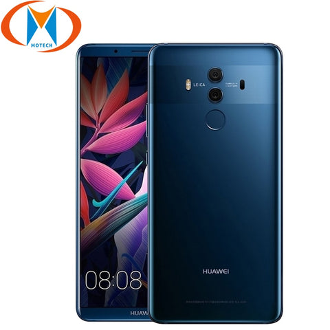 New Original Huawei Mate 10 Pro Mobile Phone 6 inch 6GB RAM 64GB / 128GB ROM Dual Rear 20MP 12MP 4000mAh 4G LTE NFC Smartphone