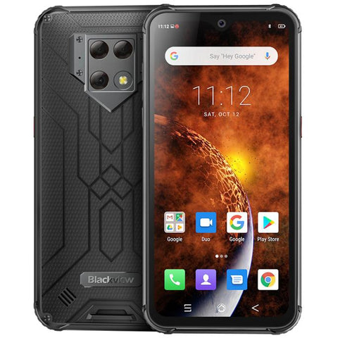 "Blackview BV9800 NFC 6GB RAM 128GB ROM 6580mAh Android 9.0 shockproof mobile phone 4G Rugged Smartphone 6.3"" Helio P70 Octa Core"