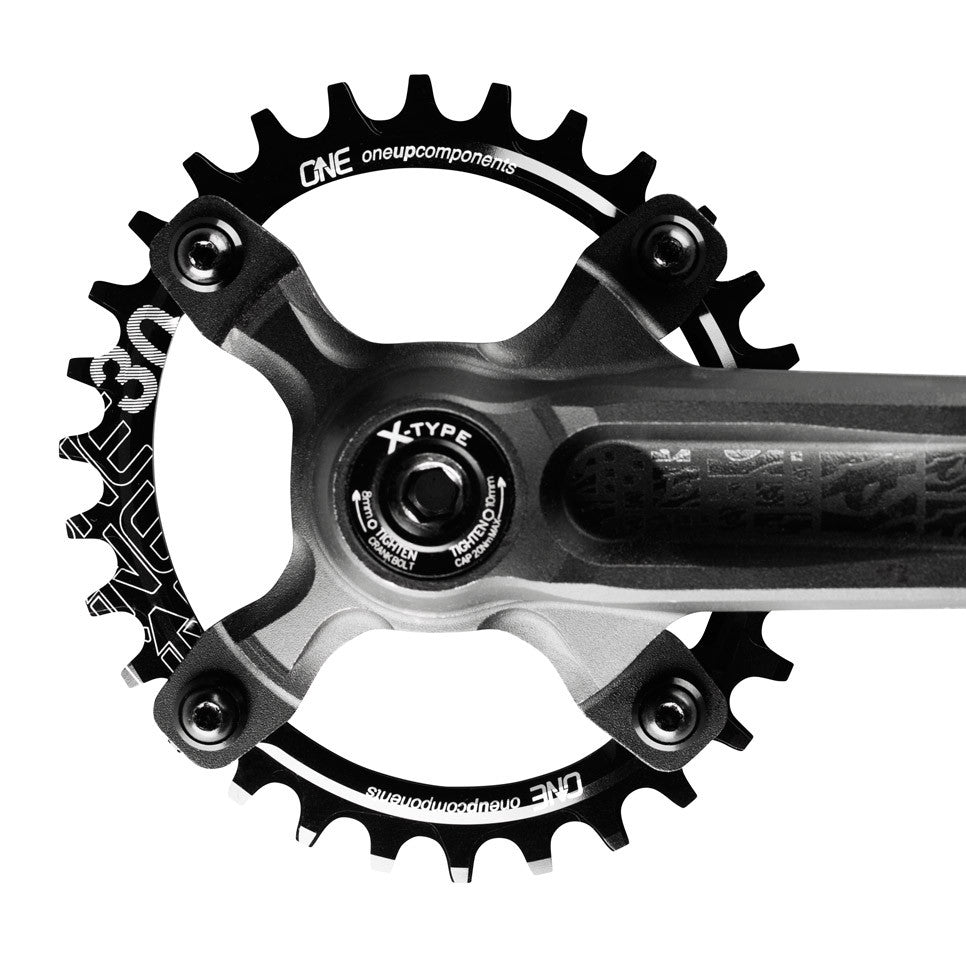 OneUp Components 94//96 oval chainring 94//96BCD 32T black