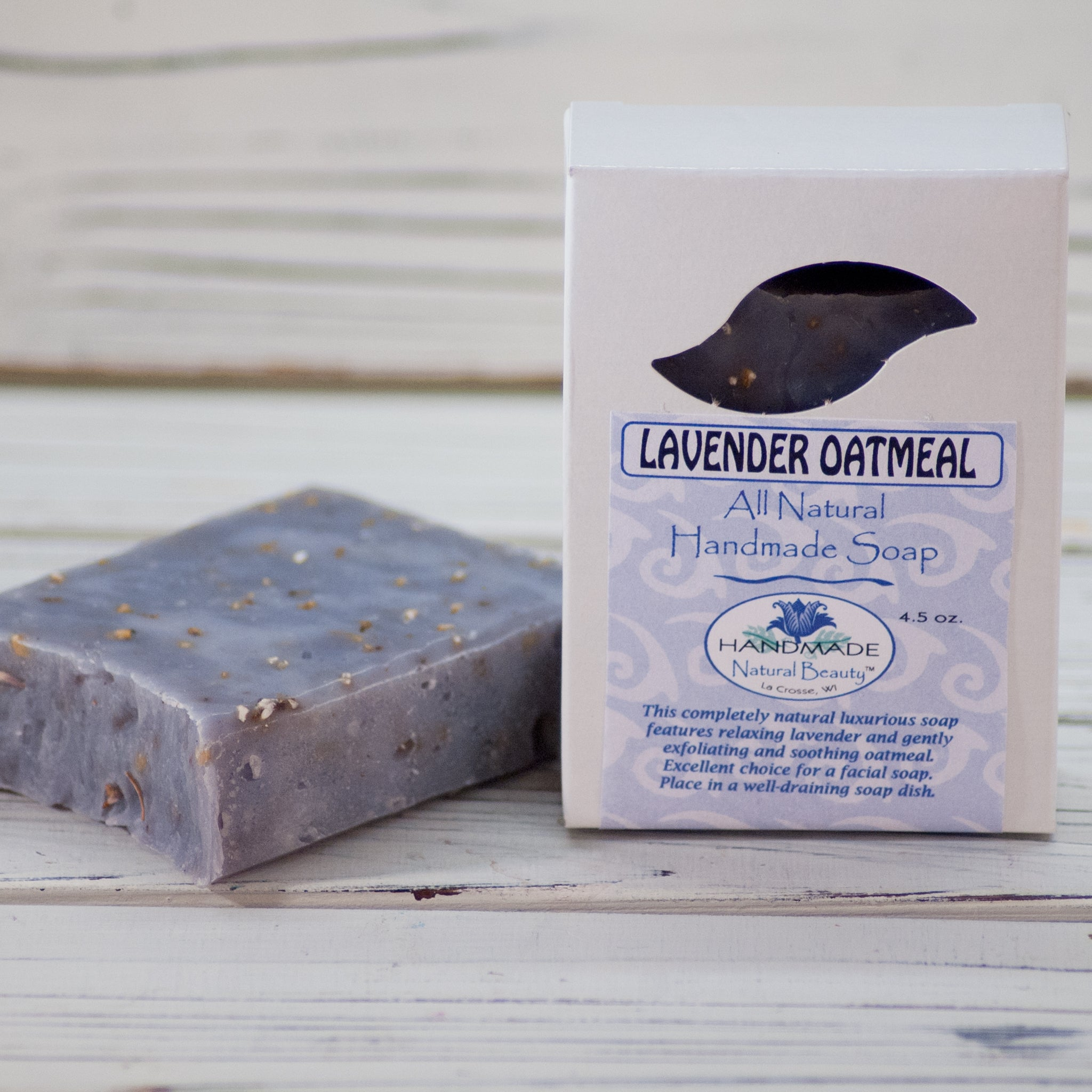100% Natural Soap | Lavender Oatmeal Soap