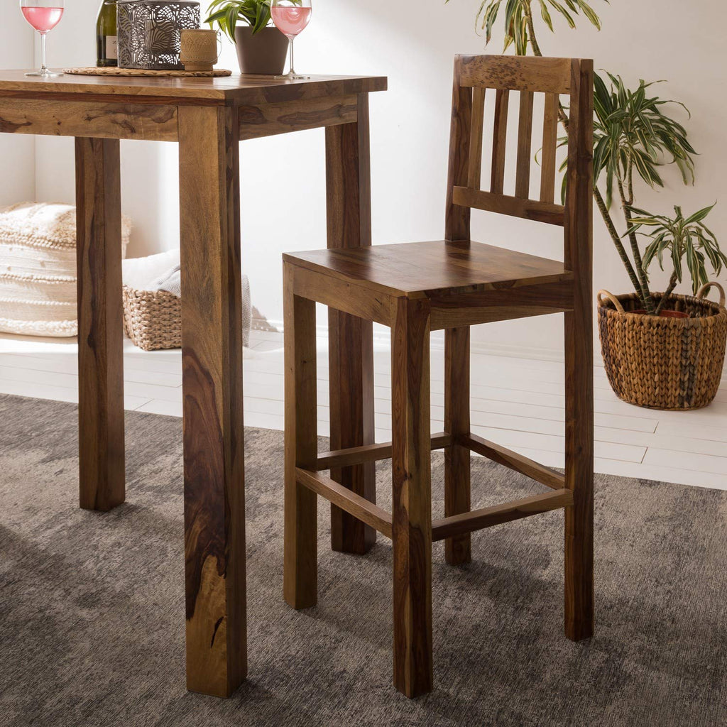 Picture of: G Fine Furniture Wooden Long 2 Seater Bar Table Set High Bar Table A