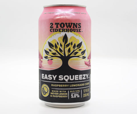 2 Towns Easy Squeezy Raspberry Hard Lemonade - The Cider Barrel
