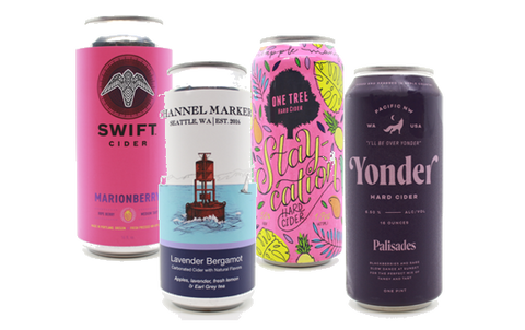 Ultimate Holiday Self Care Cider 4-Pack In 16oz cans; One Tree, Channelmarker, Yonder, Swift - The Cider Barrel