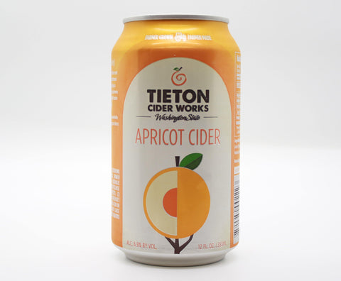Tieton Apricot Cider- 12oz cans (6.9% ABV) - The Cider Barrel