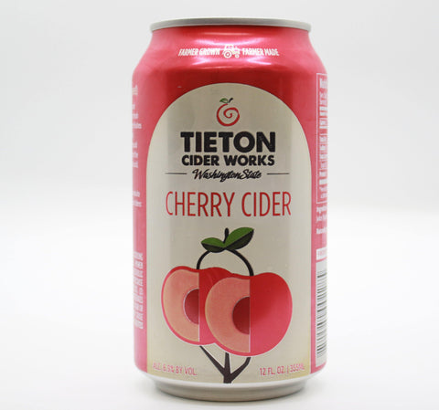 Tieton Cherry Cider- 12oz Cans (6.9% ABV) - The Cider Barrel