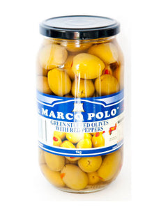 Olives Marco Polo Green Stuffed (1kg)