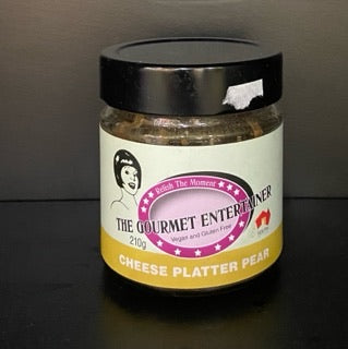 Chutney Pear Cheese Platter