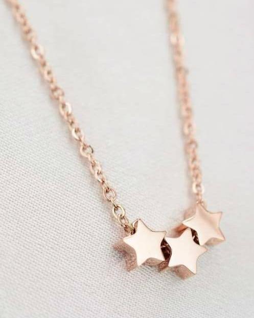 Rose Gold Star Set - Julia Necklace and Harper Earrings
