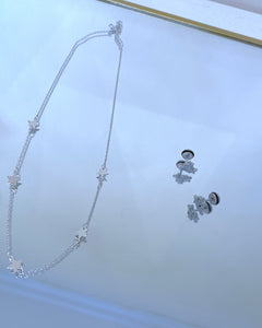 Silver Star Set - Stella Earrings and Amira Necklace