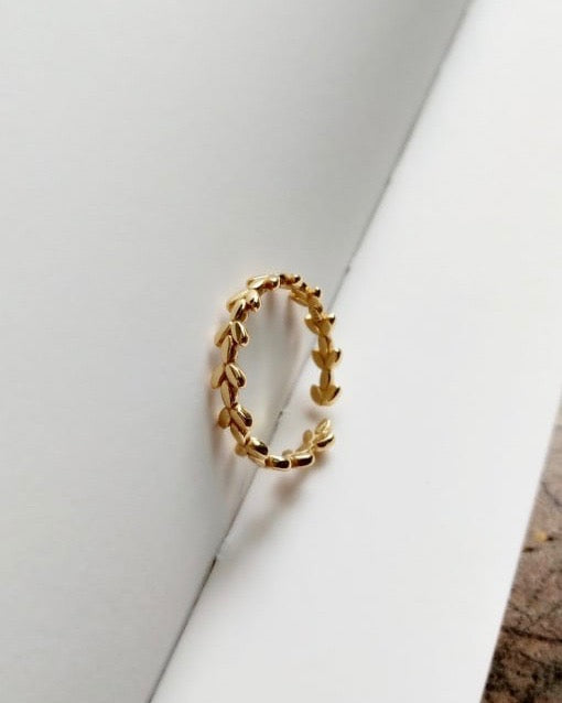 Maple Gold Leaf Ring