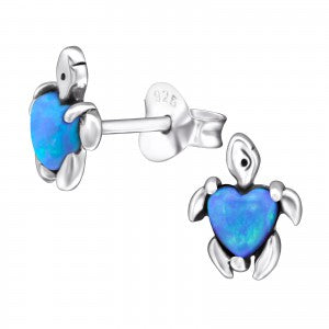 Fiji Turtle Opal Stud Earrings