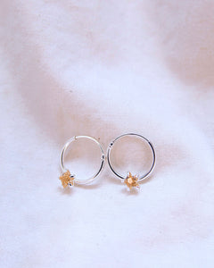 India Hoop Earrings Champagne