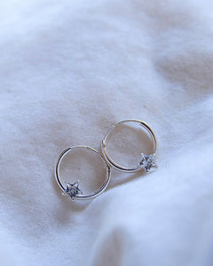 India Hoop Earrings Silver