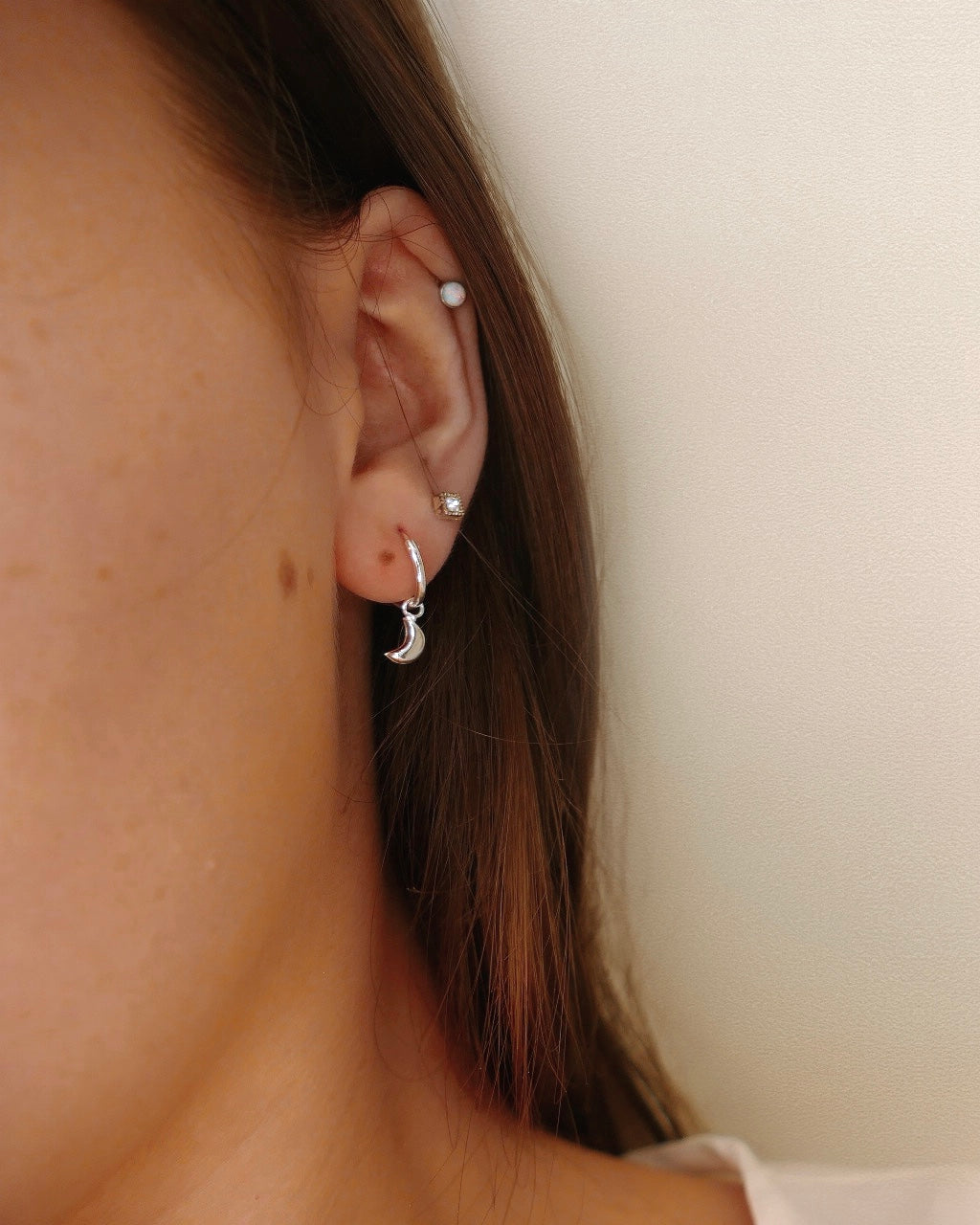 Nova Asymmetrical Star and Moon Hoop Earrings