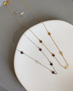 Silver Star Set - Grace Earrings & Amira Necklace