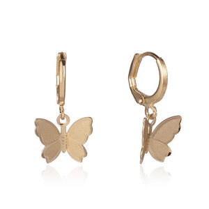 Skipper Butterfly Mini Hoop Earrings