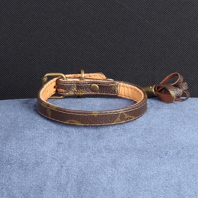 04/24 Handmade Limited Edition Halsband from vintage Louis Vuitton bag - Size 30 - DogitaDE