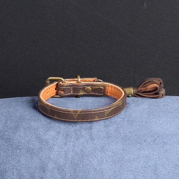 08/24 Handmade Limited Edition Halsband from vintage Louis Vuitton bag - Size 30 - DogitaDE