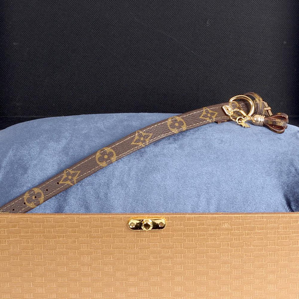 12/24 Handmade Limited Edition Halsband from vintage Louis Vuitton bag - Size 35 - DogitaDE