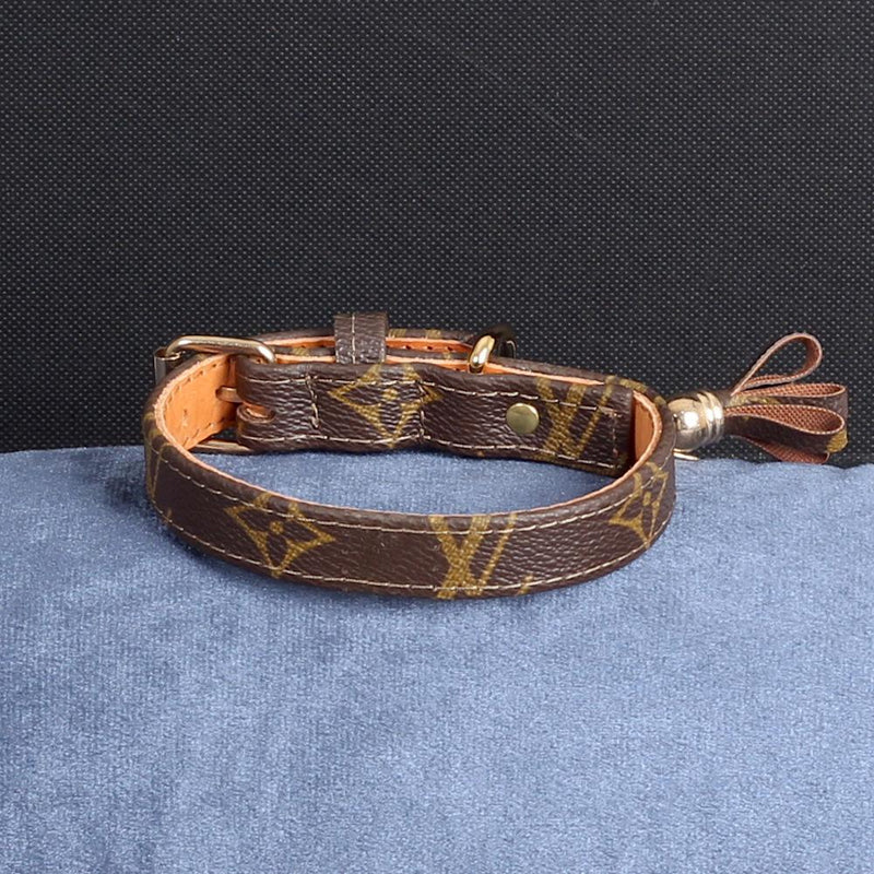 13/24 Handmade Limited Edition Halsband from vintage Louis Vuitton bag - Size 35 - DogitaDE