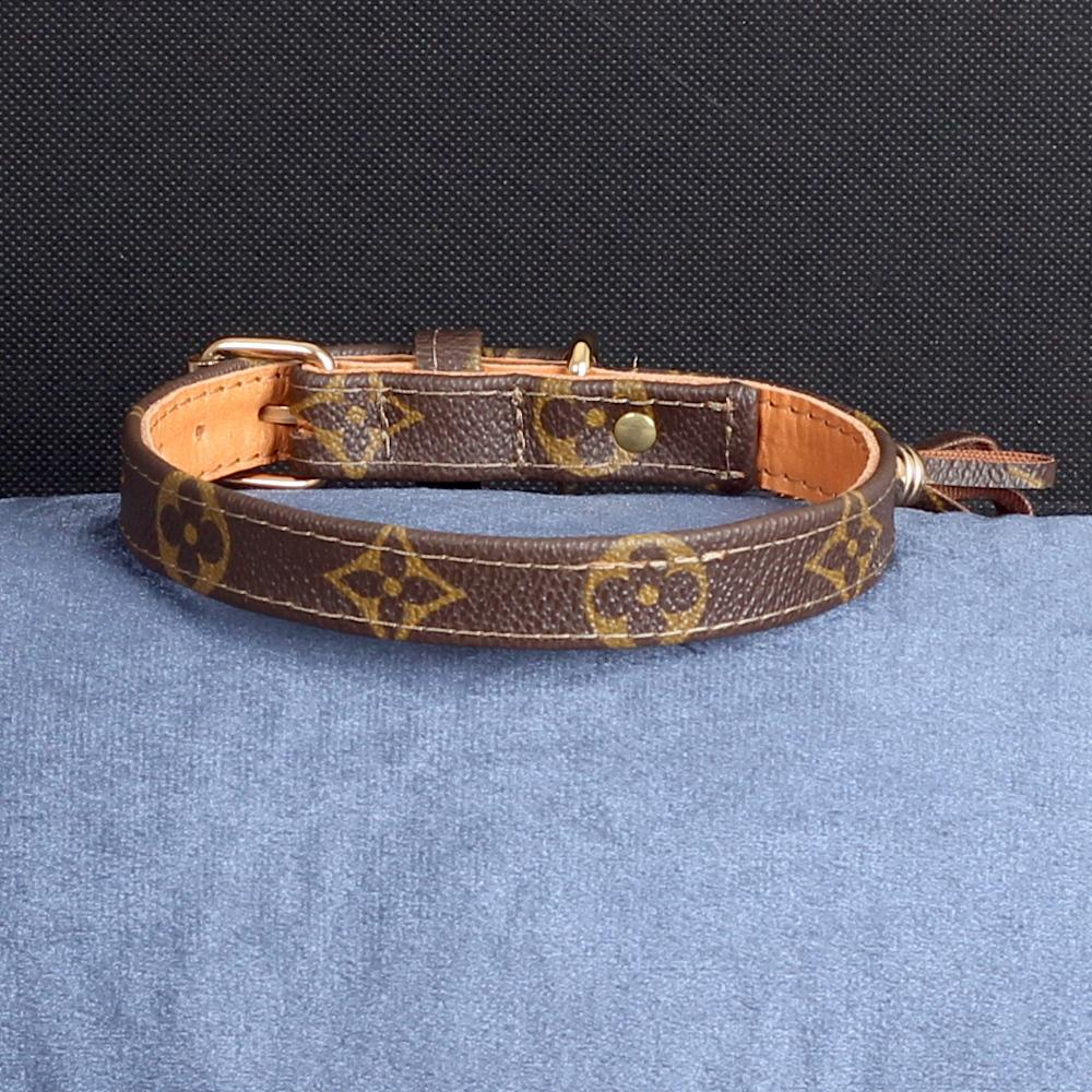 17/24 Handmade Limited Edition Halsband from vintage Louis Vuitton bag - Size 40 - DogitaDE