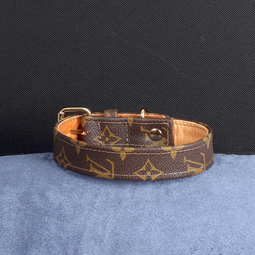 20/24 Handmade Limited Edition Halsband from vintage Louis Vuitton bag - Size 45 - DogitaDE