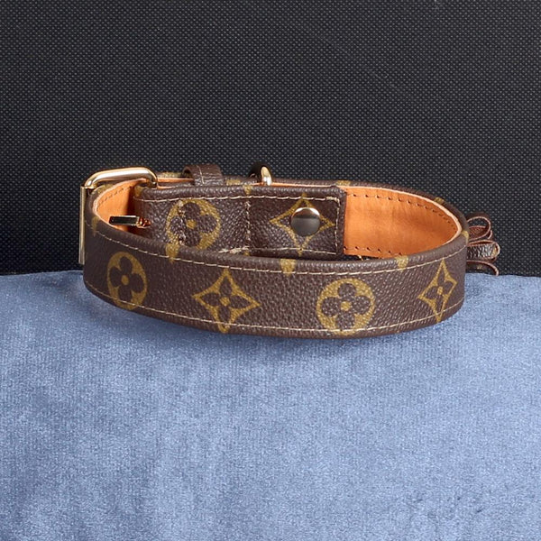 23/24 Handmade Limited Edition Halsband from vintage Louis Vuitton bag - Size 45 - DogitaDE