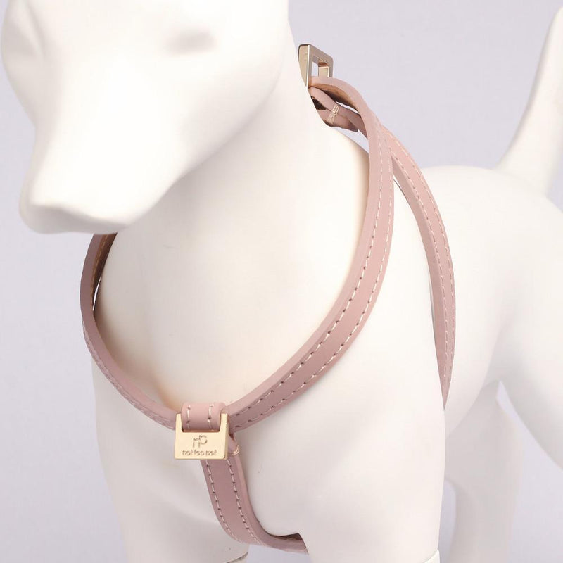 Luxus Geschirr Leder Rosa - Not Too Pet
