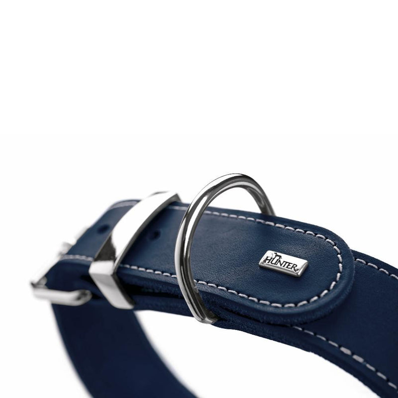 Bulldog Halsband in Navy Blau - Hunter