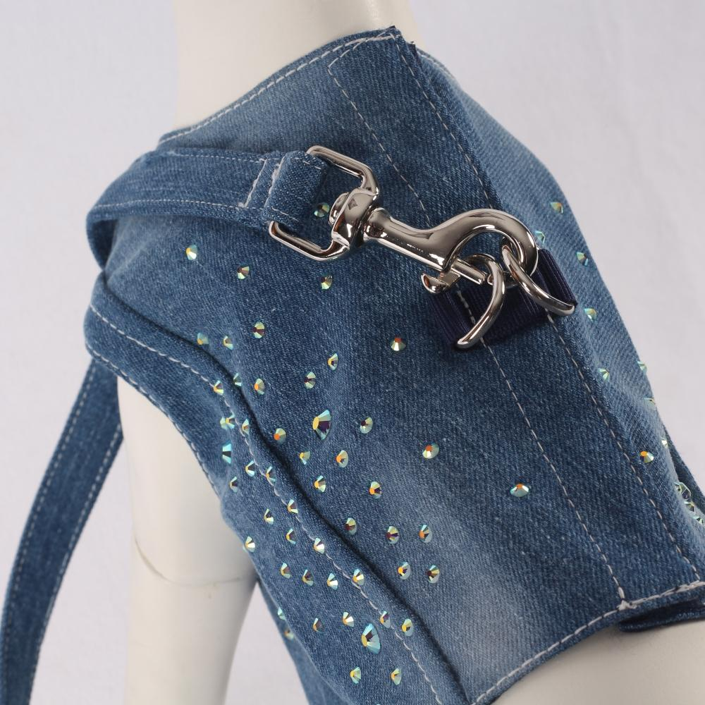 Diamond Denim Jeans Leine in Blau - Mon Bonbon Milano
