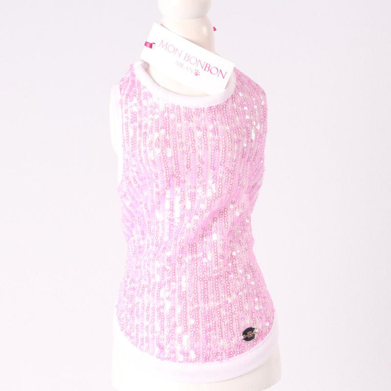 Glitter Pink Party Top - Mon Bonbon Milano