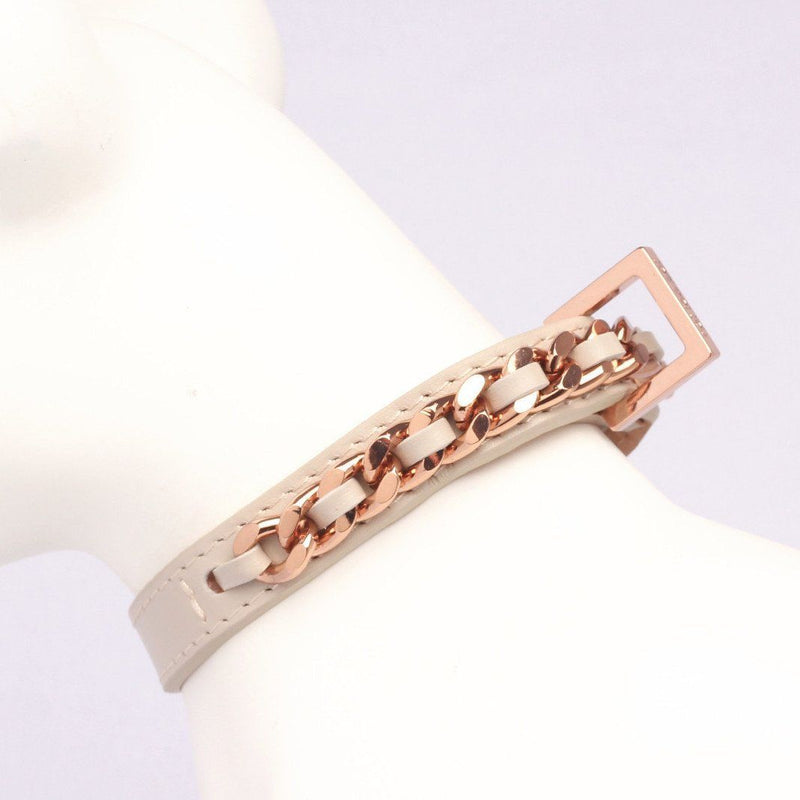 Halsband Roségold KalbslederMit Swarovski - Not Too Pet