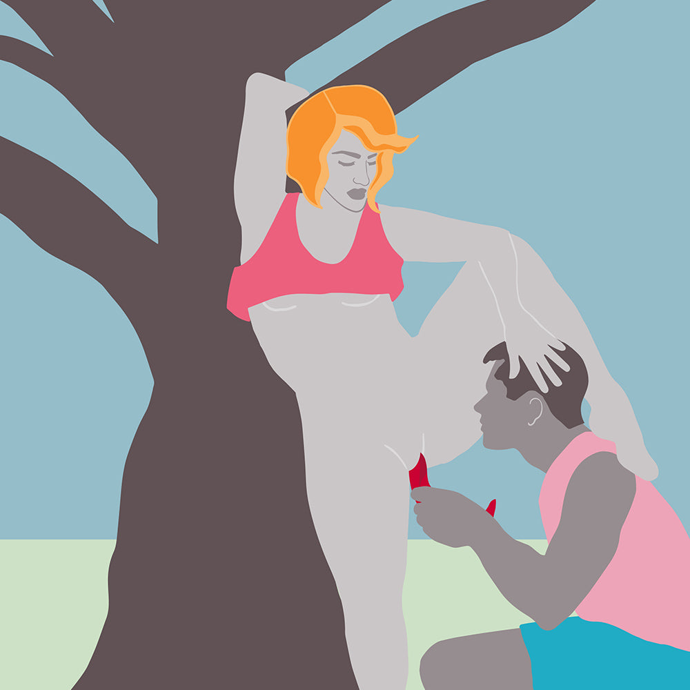 Illustration of a person using the Limba Flex on another person