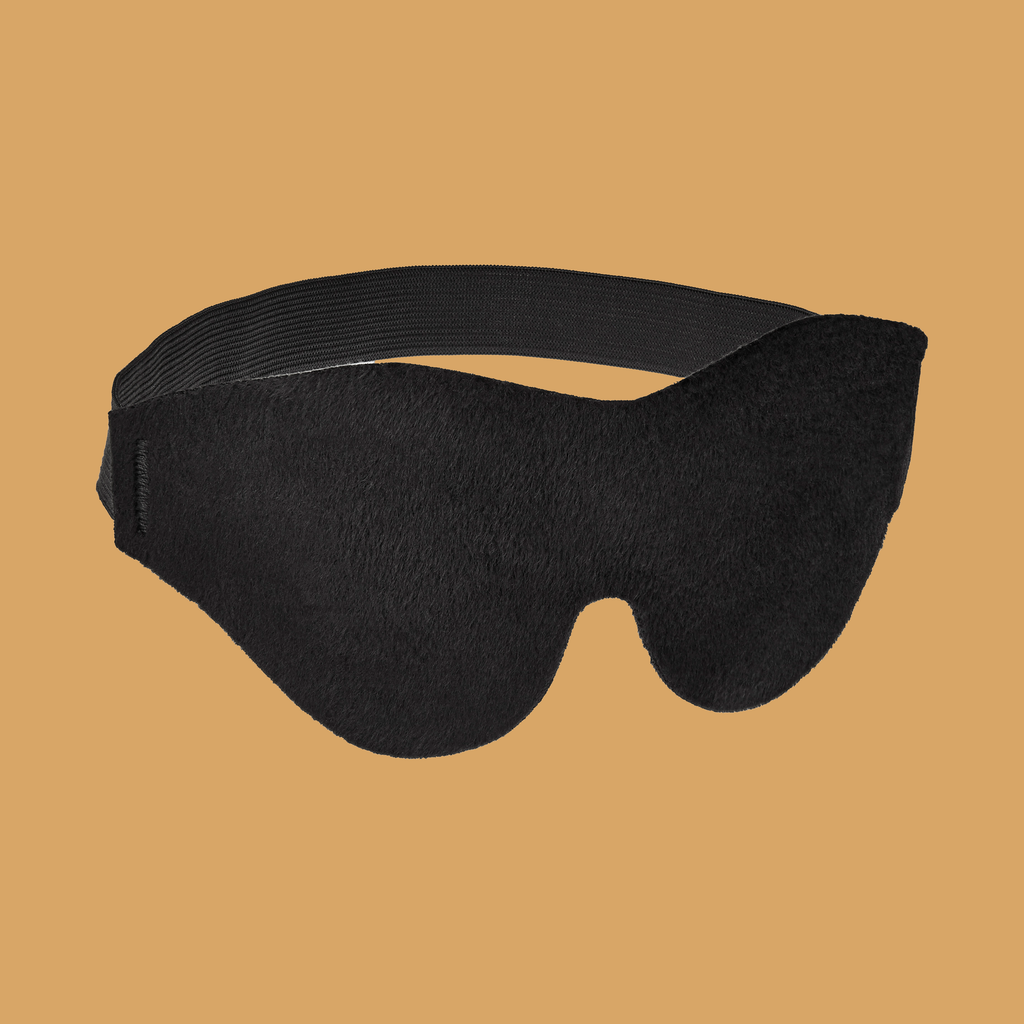 Image of front of Soft Blindfold, Black.