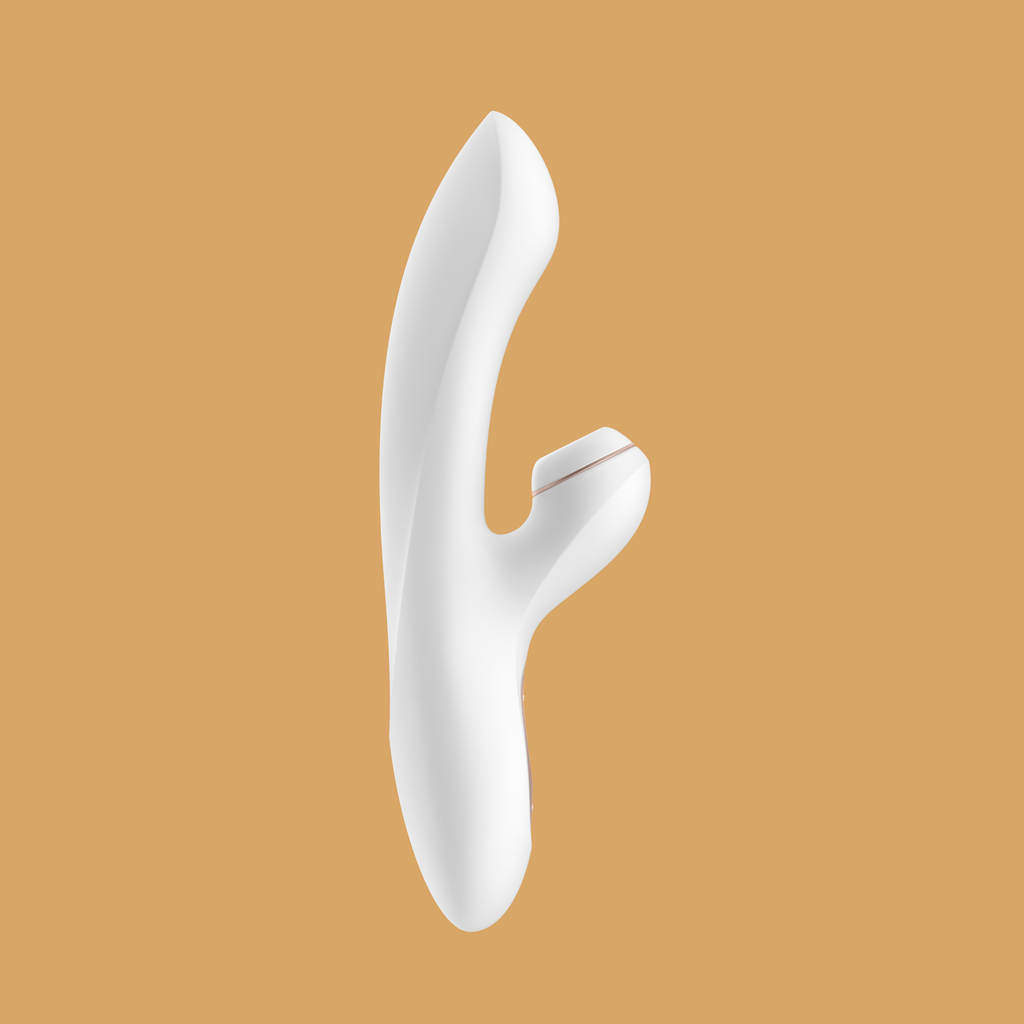 Satisfyer Pro + G-Spot Rabbit Vibrator - White and Rose Gold