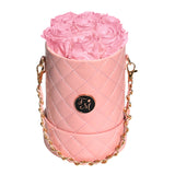 Pink Roses - Quilted Box Bouquet - Small (Pink Box)