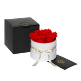 Red Roses - Classic Round Box Bouquet - Small (White Box)