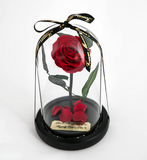 Red Enchanted Rose with Personalized Engraved Plate