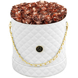 Rose Gold Roses - Quilted Box Bouquet - Large (White Box)
