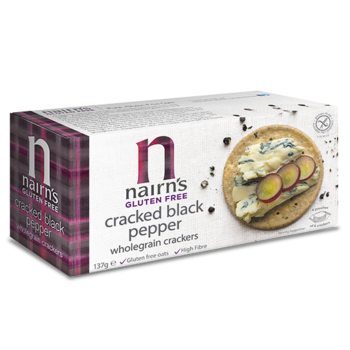 Nairns Gluten Free Cracked Black Pepper Crackers