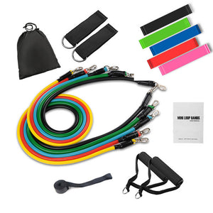 Tube Resistance Bands Set Fitness Elastic Rubber Band