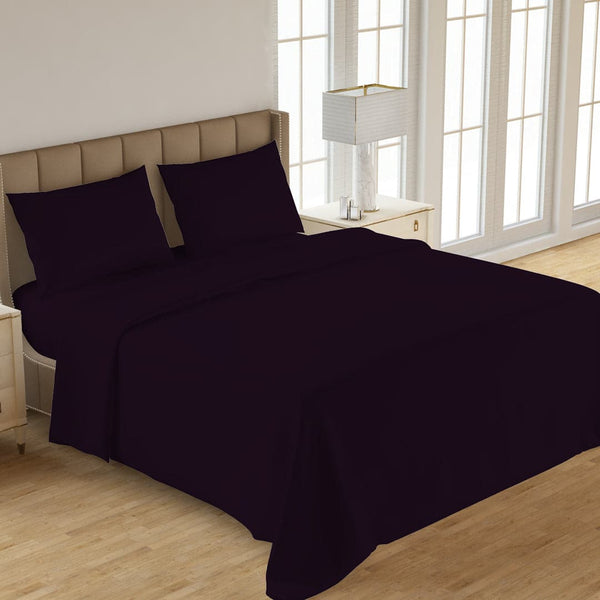 PLAIN 3PCS  DYED BED SHEET INDIGO
