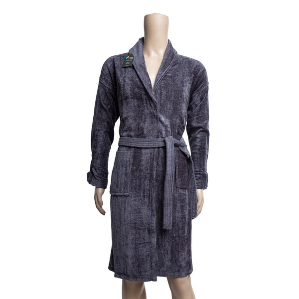 REDCARPET TURKISH BATHROBE (SHAWL) GREY