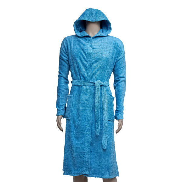 REDCARPET LA'MARVEL BATHROBE (HOODED) BLUE