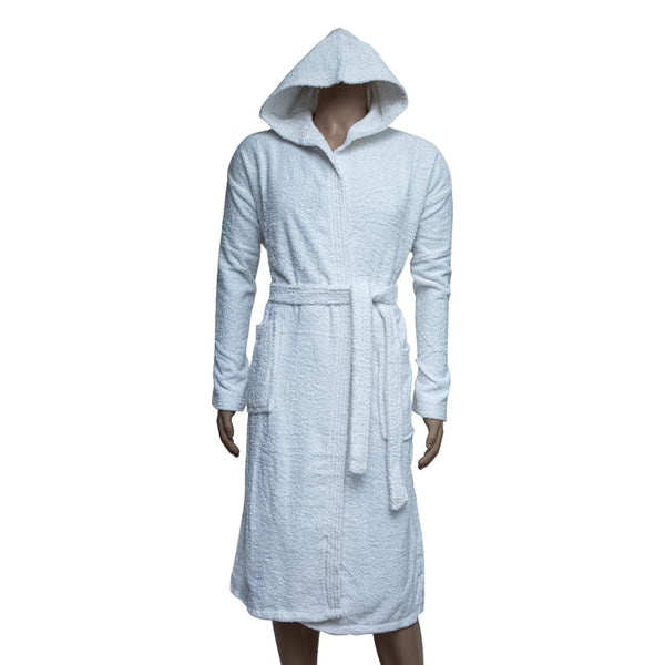 REDCARPET LA'MARVEL BATHROBE (HOODED) WHITE