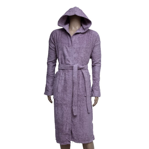REDCARPET LA'MARVEL BATHROBE (HOODED) LIGHT PURPLE